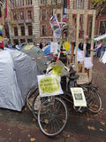Occupy Beursplein  Amsterdam Royalty Free Stock Image