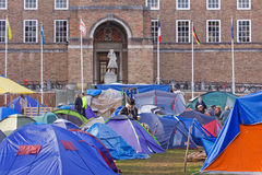 Occupy Bristol Protest Camp. BRISTOL, ENGLAND - NOVEMBER 18: The Occupy Bristol camp on College Green outside the Cathedral and Council offices in Bristol Stock Image
