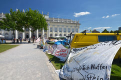 Occupy camp at documenta 2012 Stock Photography