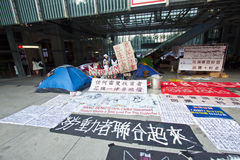 Occupy Central Hong Kong Protest Royalty Free Stock Photo