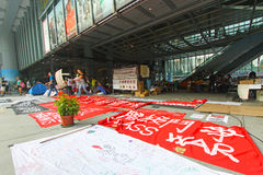 Occupy Central Hong Kong Protest stock photography
