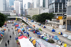 Occupy Central movement, Hong Kong Royalty Free Stock Photography