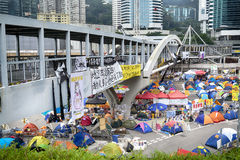 Occupy Central movement, Hong Kong Royalty Free Stock Photo