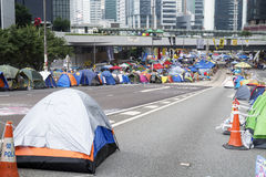 Occupy Central movement, Hong Kong Royalty Free Stock Images
