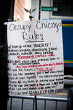 Occupy Chicago Rules Royalty Free Stock Photos