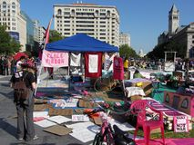 Occupy DC at Freedom Plaza Stock Photos