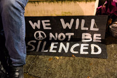 Occupy Democracy will not be silent's Return to Parliament Square stock images