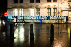 Occupy Democracy will not be silent's Return to Parliament Square Royalty Free Stock Image