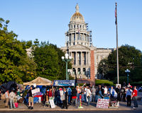 Occupy Denver Protest - 14 Royalty Free Stock Image