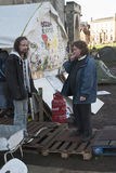 Occupy Exeter activists before their direct action Royalty Free Stock Images