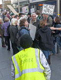 Occupy Exeter legal observer looks on Royalty Free Stock Images