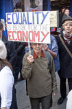 Occupy Exeter supporterss march through Exeter C Stock Images