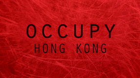 Occupy Hong Kong poster Stock Photos