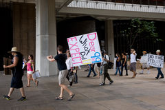 Occupy Honolulu/anti-APEC Protest-13 Royalty Free Stock Photo