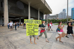 Occupy Honolulu/anti-APEC Protest-16 Stock Photo