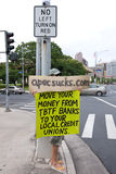 Occupy Honolulu/anti-APEC Protest-40 Royalty Free Stock Photography