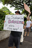 Occupy Honolulu/anti-APEC Protest-55 Royalty Free Stock Photo