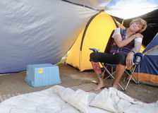 Occupy LA camping tent village Royalty Free Stock Photos