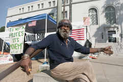 Occupy LA camping tent village Royalty Free Stock Image