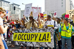 Occupy LA Demonstration and Rally Royalty Free Stock Photography