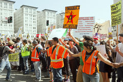 Occupy LA Demonstration and Rally Stock Images