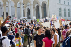 Occupy LA Demonstrators March In Los Angeles Royalty Free Stock Photography