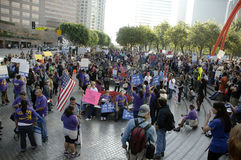 Occupy LA protesters march Stock Photography