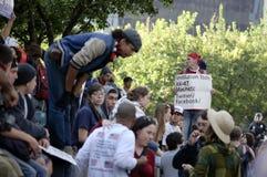 Occupy LA protesters march Stock Photo