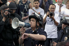 Occupy LA protesters march Royalty Free Stock Images