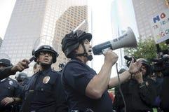 Occupy LA protesters march Stock Photos