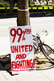Occupy LA Signs and Posters Stock Image