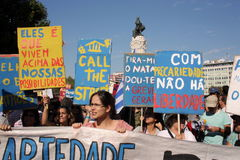 Occupy Lisbon - Global Mass Protests 15 October Royalty Free Stock Images