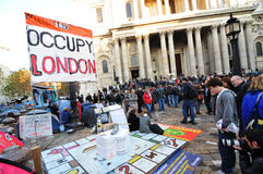 Occupy London Stock Image