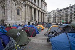 Occupy London Royalty Free Stock Photo