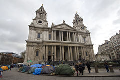 Occupy London Royalty Free Stock Image