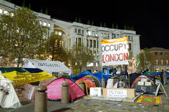 Occupy London Movement Stock Images