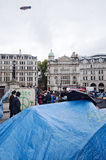 Occupy London Paradox Royalty Free Stock Photos