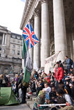Occupy London protest at the Royal Exchange Stock Photos