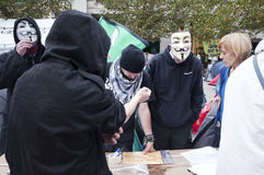 Occupy London protesters Royalty Free Stock Photo