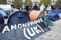 Occupy London protesters Stock Photos