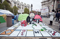 Occupy London protesters Stock Image