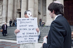 Occupy London Speaker Royalty Free Stock Image
