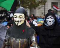 Occupy London Stock Exchange Royalty Free Stock Image