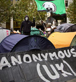 Occupy London Stock Exchange Stock Photography