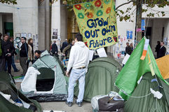Occupy London Tent Camp Stock Image
