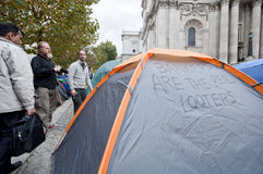 Occupy London Tent Camp Royalty Free Stock Photo