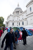 Occupy London Tent Camp Stock Images