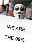 Occupy Los Angeles protest Royalty Free Stock Image