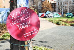 Occupy Louisville Protest stock photography