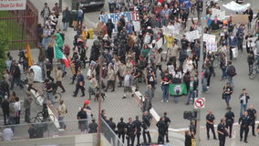 Occupy Marches On stock video